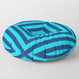 Blue on Blue Squares Floor Pillow
