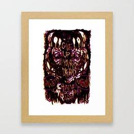 Give Up Framed Art Print