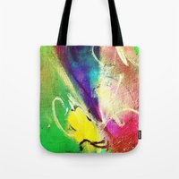 graffiti Tote Bags featuring Graffiti  by Shannon Curtis