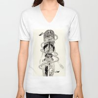 biology V-neck T-shirts featuring Soul Biology  by Ursula Hart
