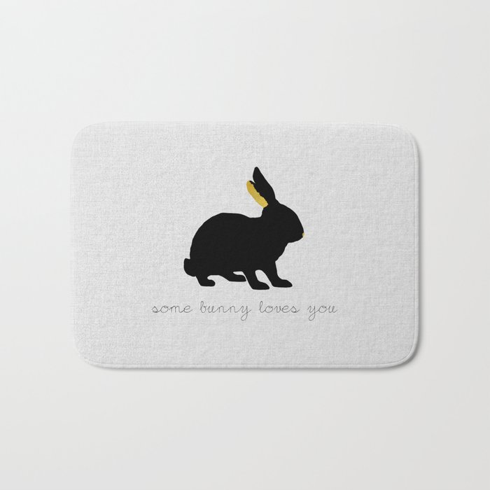 Some Bunny Loves You Bath Mat