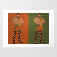hercules Art Prints featuring Hercules by Young Jake