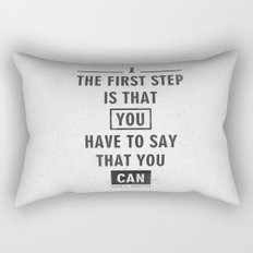 Will Smith quote - Motivational poster Rectangular Pillow