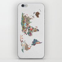 vintage map iPhone & iPod Skins featuring Louis Armstrong Told Us So by Bianca Green