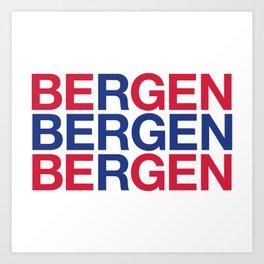 BERGEN Art Print