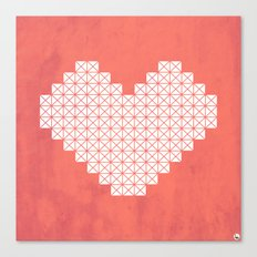 Heart X Red Canvas Print