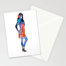 Water Pin Up Girl Stationery Cards