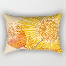 Tuesday Afternoon Sunflowers Rectangular Pillow