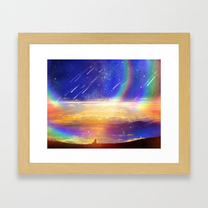 Waiting for a New Day Framed Art Print