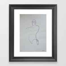 One line Phantom Framed Art Print