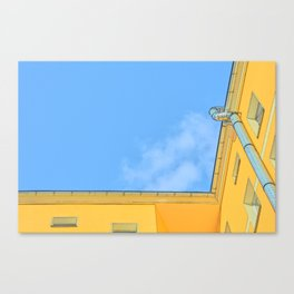 Berlin yellow building seen from below Canvas Print