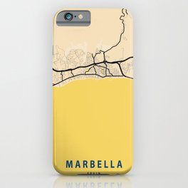 Marbella Yellow City Map iPhone Case