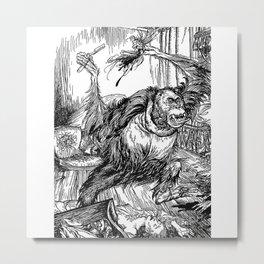 Los crímenes de la calle Morgue, POE Metal Print