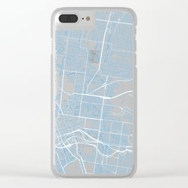 Street MAP Melbourne // Blue Clear iPhone Case