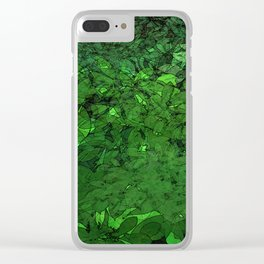 Nature jungle landscape pattern leaves illustration Clear iPhone Case