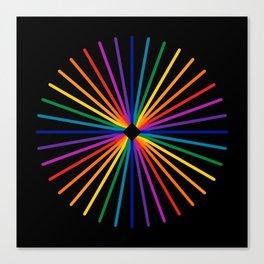 Spectrum Starburst Canvas Print