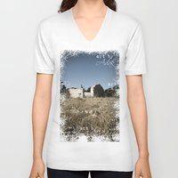 house V-neck T-shirts featuring House by Anja Kidrič AdAk