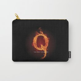 WWG1WGA QANON Letter Q Fire 1 Carry-All Pouch