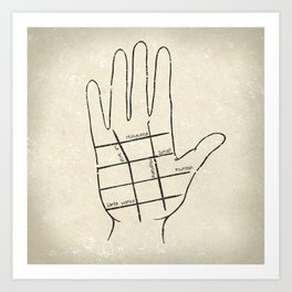 Hollywood Palm Reading Art Print