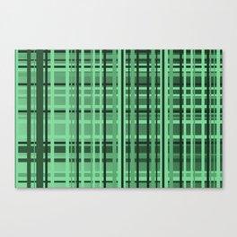 checkered Design green Canvas Print