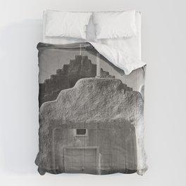 Ansel Adams - Taos Pueblo Church Comforters