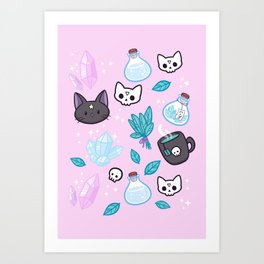 Herb Witch // Pink Art Print