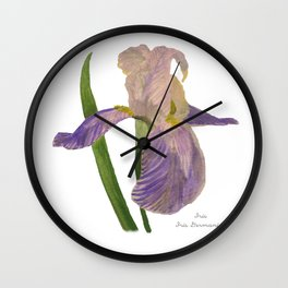 Purple Iris: Iris Germanica Wall Clock