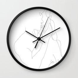 Couple - Minimal Line Drawing Wall Clock