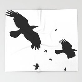A Murder Of Crows Throw Blanket