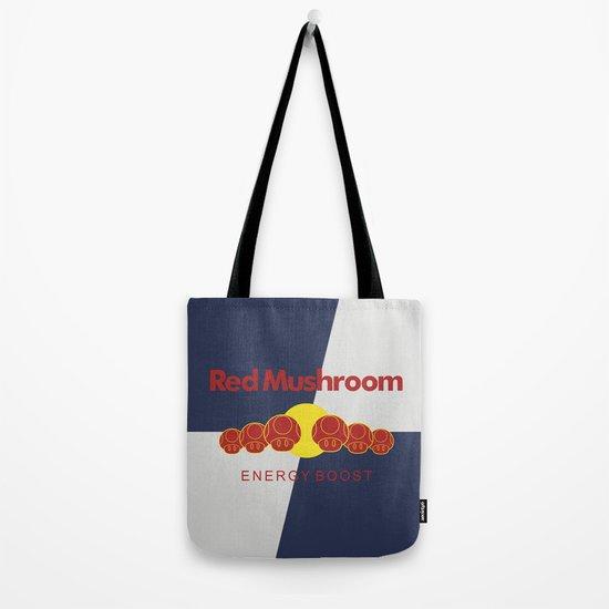 Red Mushroom Energy Boost Tote Bag