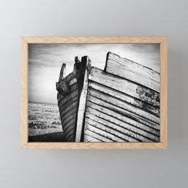An old wreck Framed Mini Art Print