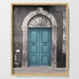 Blue Ottoman Doorway Serving Tray