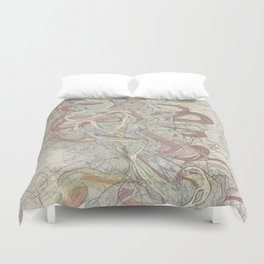 Beautiful Map of the Lower Mississippi River Duvet Cover