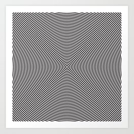 op art - circles Art Print