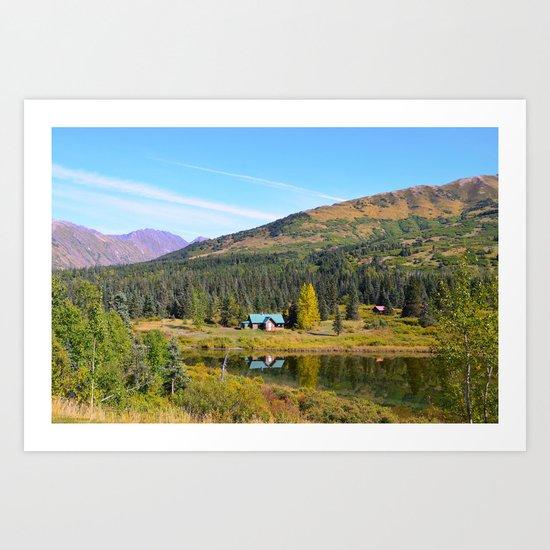 Lake Retreat - Alaska Art Print