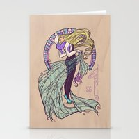 nouveau Stationery Cards featuring Spider Nouveau by Karen Hallion Illustrations