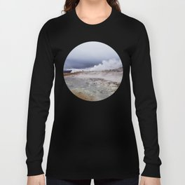 Man on the moon, Iceland Long Sleeve T-shirt