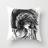 florence Throw Pillows featuring Florence by Kate Plourde