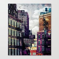 Canvas Prints featuring The Rooftop #2 by Tim Jarosz