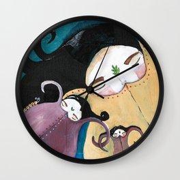 Sleeping Bhoomies Wall Clock