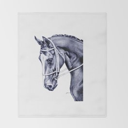 Nureyev (US) - Thoroughbred Throw Blanket