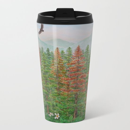 A Day of Forest(8). (coniferous forest) Metal Travel Mug