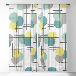 Atomic Age Molecules Sheer Curtain