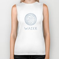 the last airbender Biker Tanks featuring Avatar Last Airbender - Water by bdubzgear