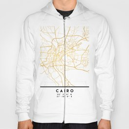 CAIRO EGYPT CITY STREET MAP ART Hoody