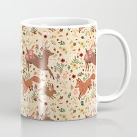 woodland Mugs featuring Woodland by Sophie Eves