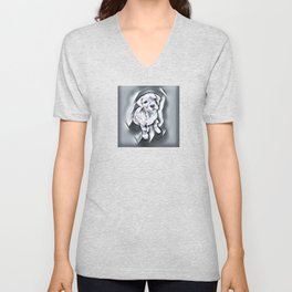 Pit Bull lover, a portrait of a beautiful blue nose pit bull puppy Unisex V-Neck