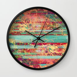 Copper Grunge Turquoise Wall Clock