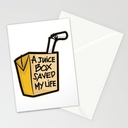 A JUICE BOX Saved my Life Diabetes Diabetic Gift Stationery Cards