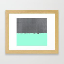 Mint Paint on Concrete Framed Art Print